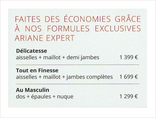 Lumiere Pulsee Cocoon Beaute Bien Etre Institut De Beaute Soins Du Corps Tarifs Ariane Expert